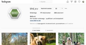 Der BHD in den sozialen Medien